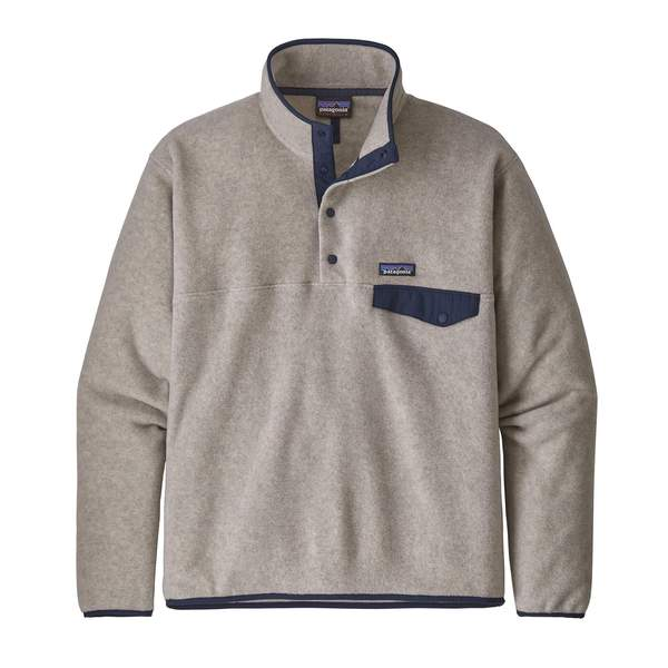 Patagonia Men's Light Weight Synch Snap-T Pull Over Oatmeal - Stencil
