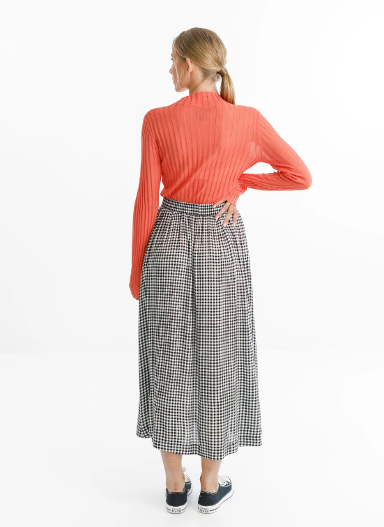 THING THING - MYSTIC SKIRT - BLACK GINGHAM