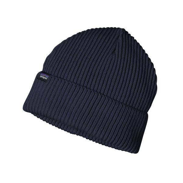 Patagonia Fisherman's Rolled Beanie Navy Blue - Stencil