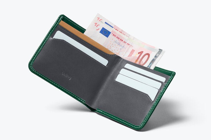 Bellroy Hide & Seek Hi Wallet Racing Green - RFID - Stencil