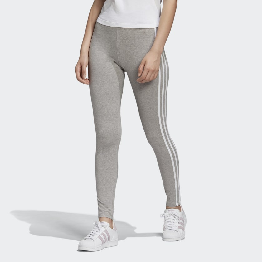 Adidas 3 Stripe Tight Grey/White