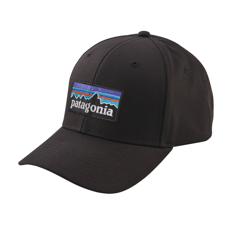 Patagonia P-6 Logo Roger That Hat Black - Stencil