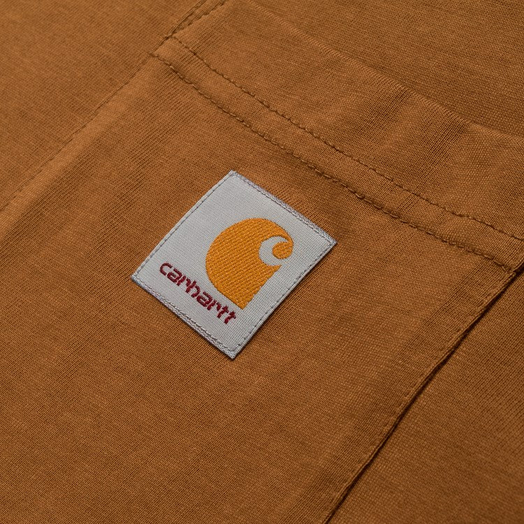 Carhartt S/S Pocket Tee Shirt Hamilton Brown - Stencil