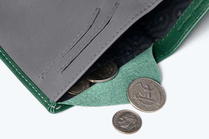 Bellroy Note Sleeve Wallet Racing Green - RFID - Stencil