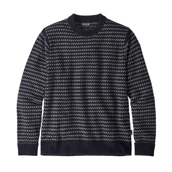 Patagonia Recycled Wool Sweater Classic Navy - Stencil