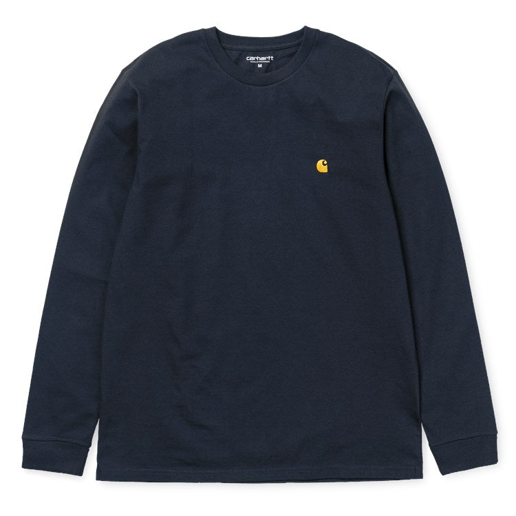 Carhartt Long Sleeve Chase T Shirt Dark Navy