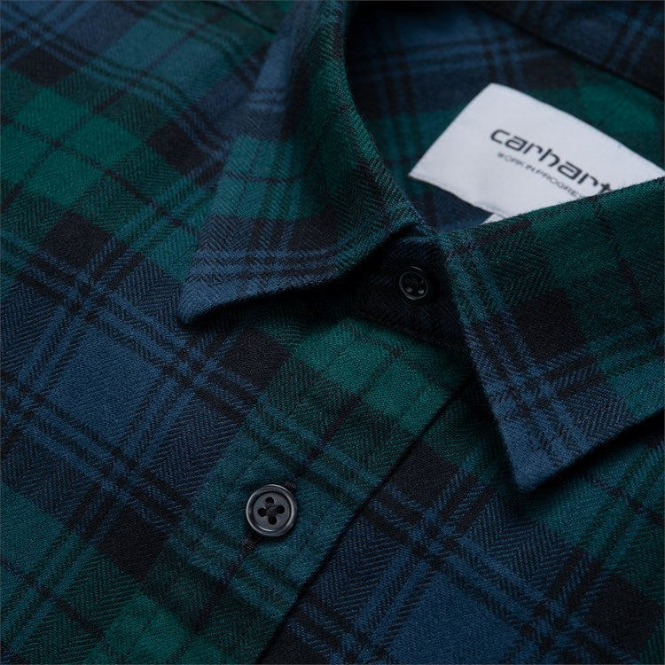 Carhartt L/S Pelkey Check Shirt Dark Fir/Blue