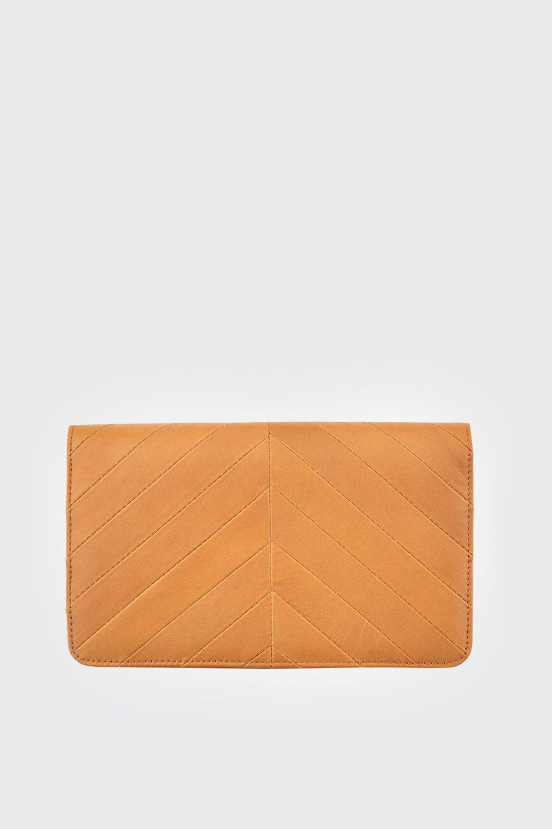 Status Anxiety Mildred Clutch Tan