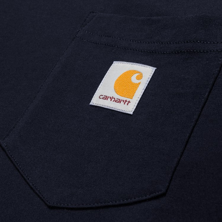 Carhartt L/S Pocket Tee Shirt Dark Navy