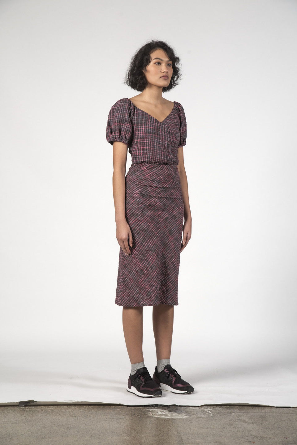 Thing Thing Lou Lou Skirt - Charcoal Check