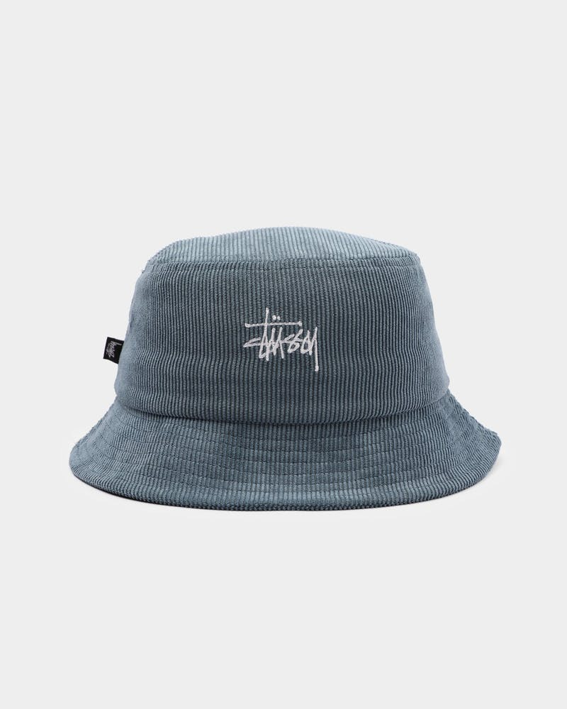 Stussy Graffiti Cord Bucket Hat Blue