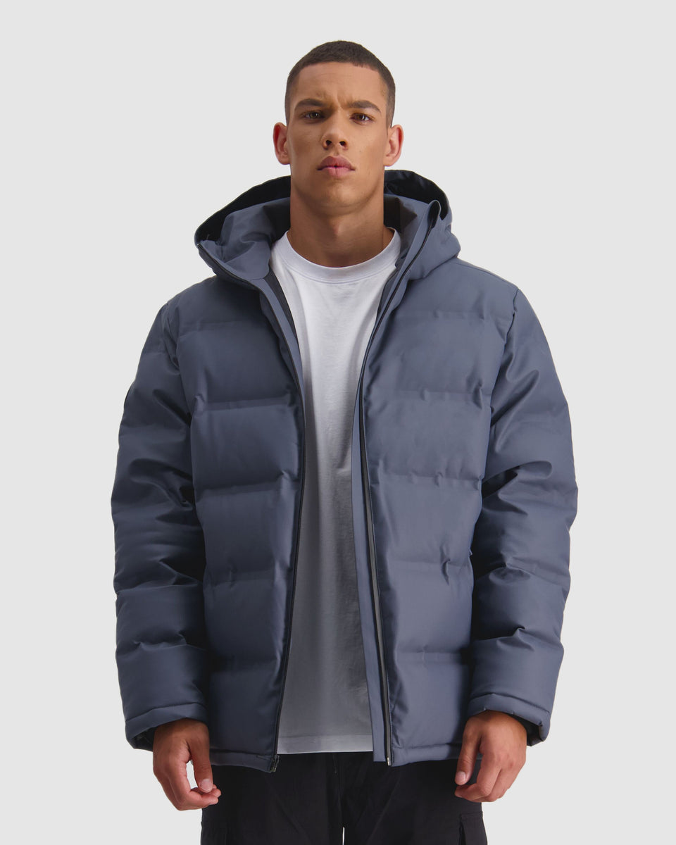Huffer Mens Superdown Jacket Boulder - Stencil