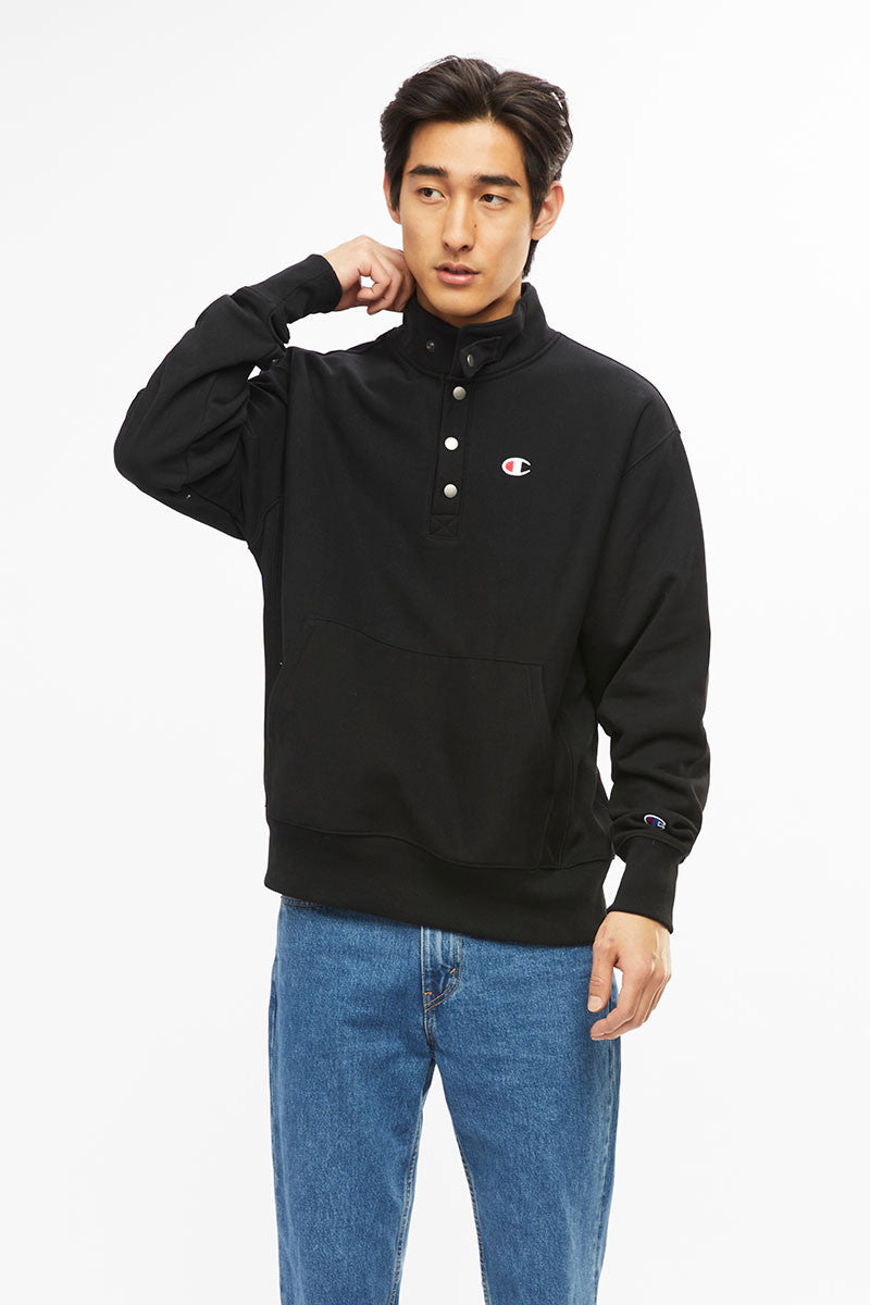 Champion Reverse Weave Quarter Zip Pullover Black