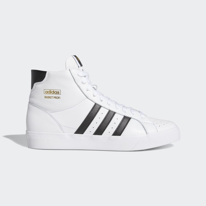 Adidas Basket Profi Cloud White / Core Black / Gold Metallic