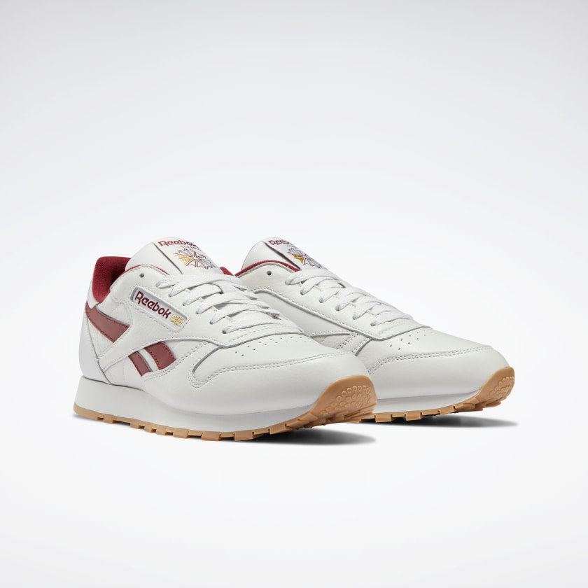 Reebok CL Leather Porcelain / Merlot / Reebok Rubber Gum-04