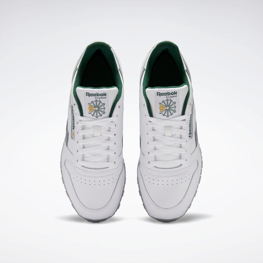 Reebok CL Leather White / Cool Shadow / Utility Green
