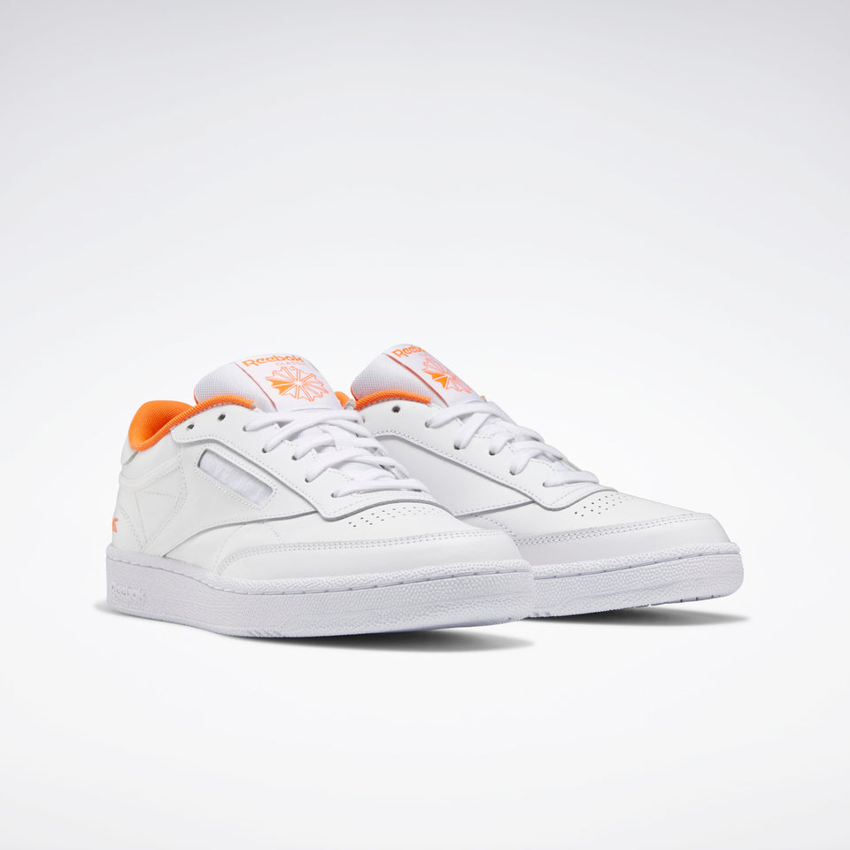 Reebok Club C 85 White/Solar Orange