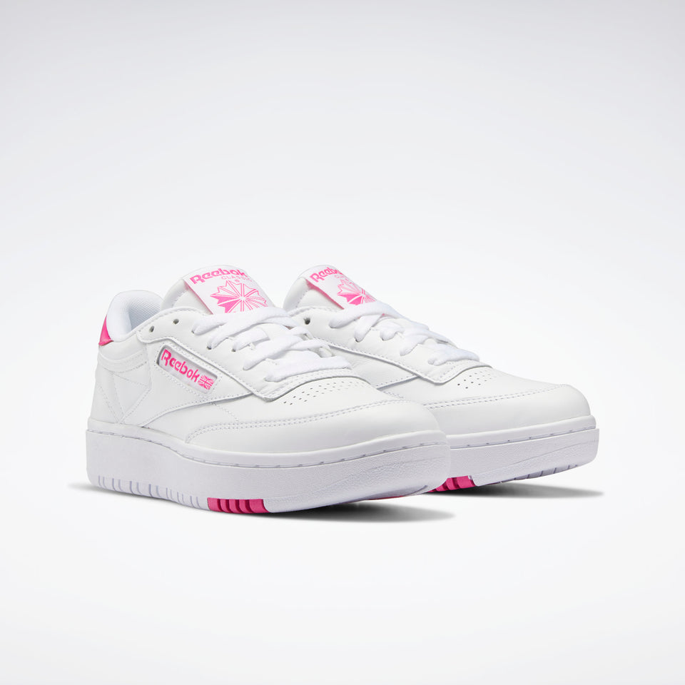 Reebok Club C Double White/Pro Pink