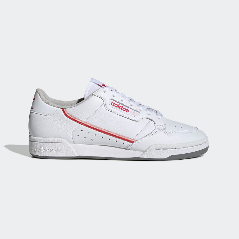 Adidas Continental 80 Cloud White/Vapour Pink/Glory Red - Stencil