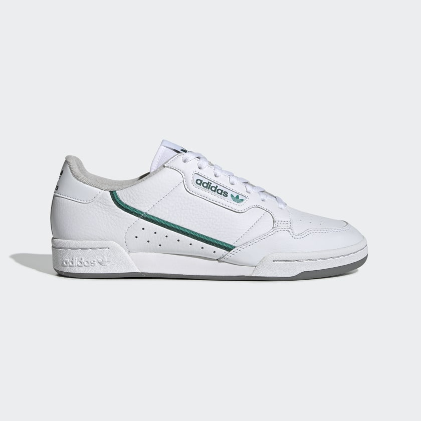 Adidas Continental 80 Cloud White/Glory Green/Collegiate Green - Stencil