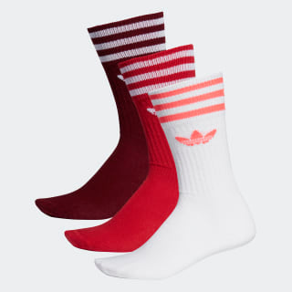 Adidas Solid Crew Sock Red - Stencil