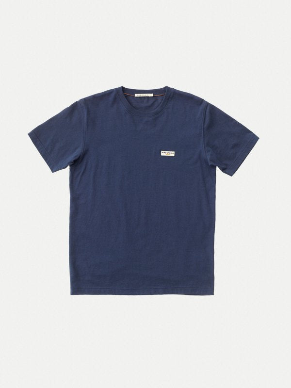 Nudie Danile Logo tee Midnight Navy - Stencil
