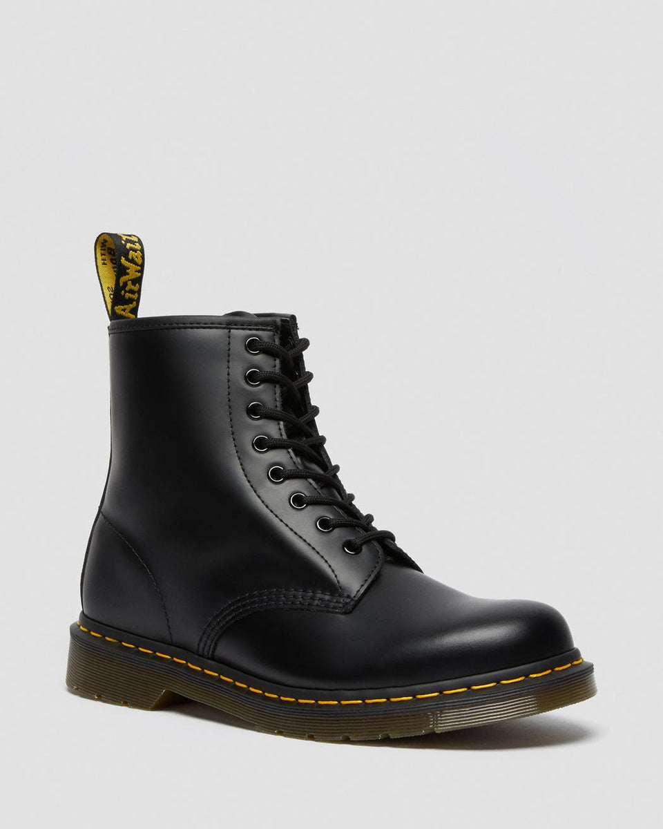 Dr Martens 1460 Smooth Leather Lace Up Boot Black