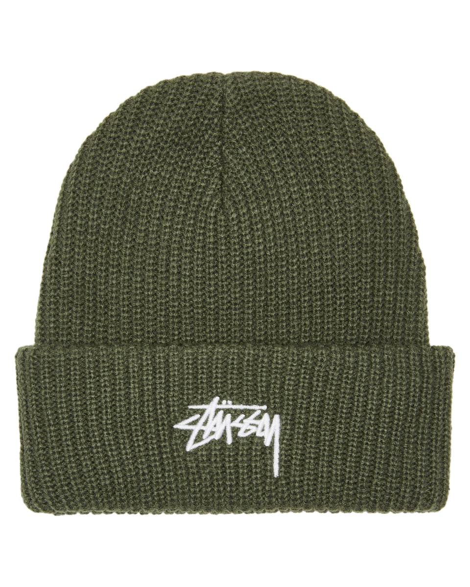 Stussy Stock Cuff Beanie Flight Green - Stencil