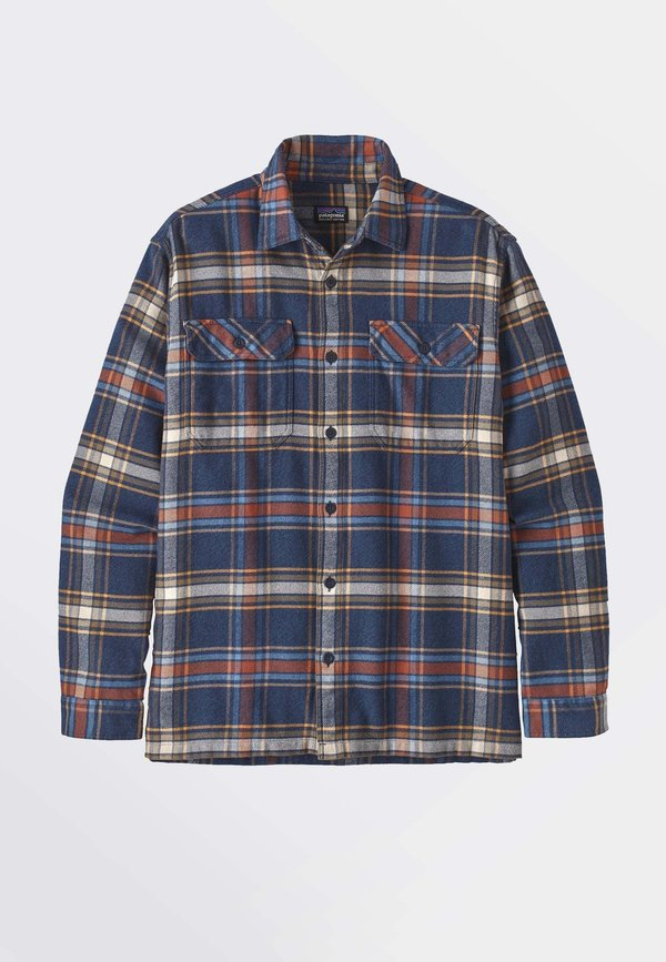 Patagonia L/S Fjord Flannel Shirt Defender/New Navy - Stencil