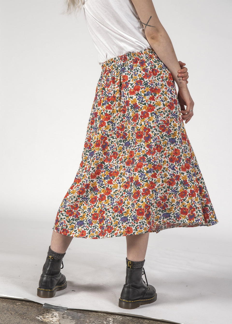 Thing Thing Freedom Skirt Inky Floral - Stencil