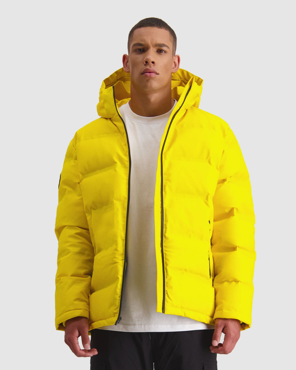 Huffer Mens Superdown Jacket Acid Yellow - Stencil