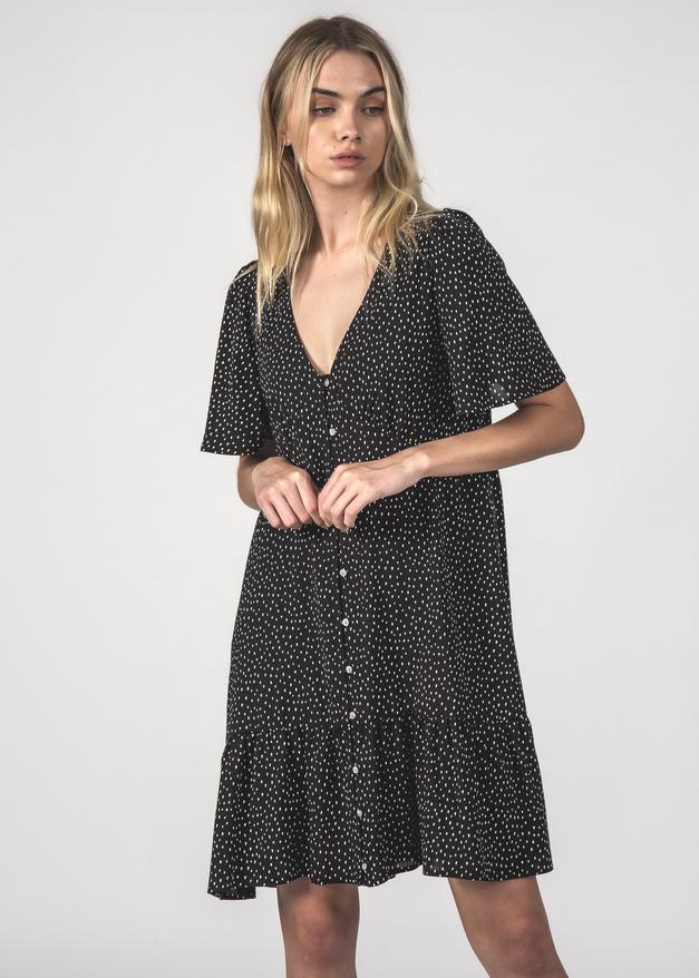 Thing Thing Happy Times Dress Black Speckle
