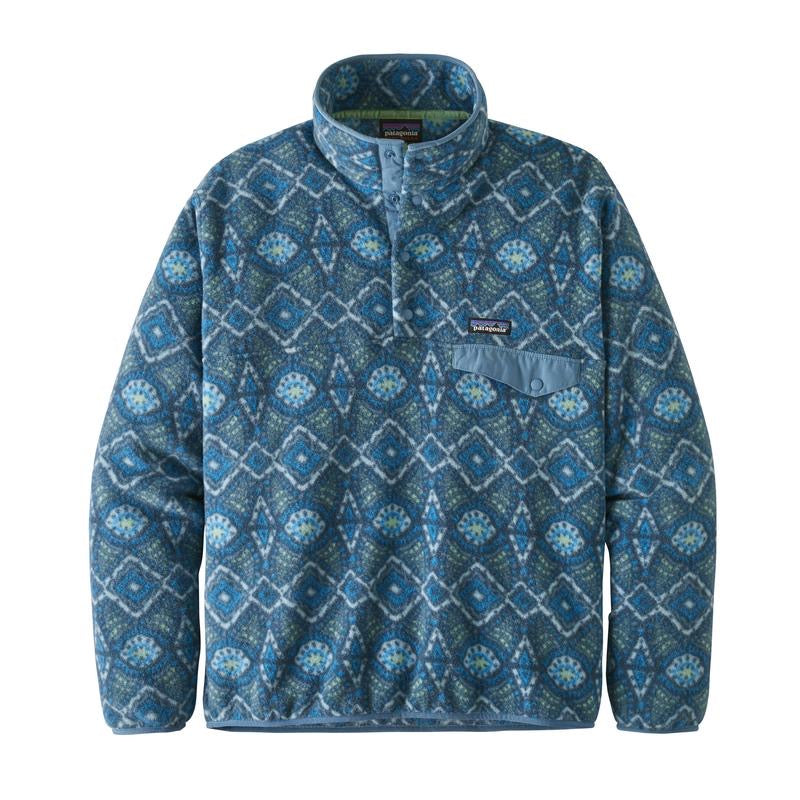 Patagonia LW Synch Snap-T Pull Over Honeycomb : Stone Blue - Stencil
