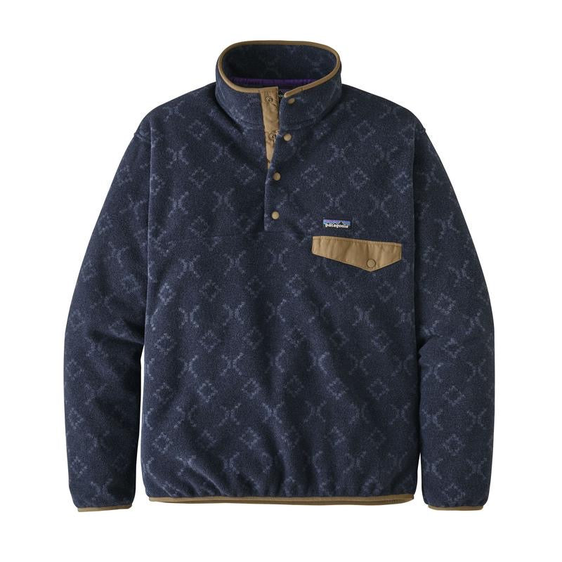 Patagonia LW Synch Snap-T Pull Over Goshawk : New Navy - Stencil