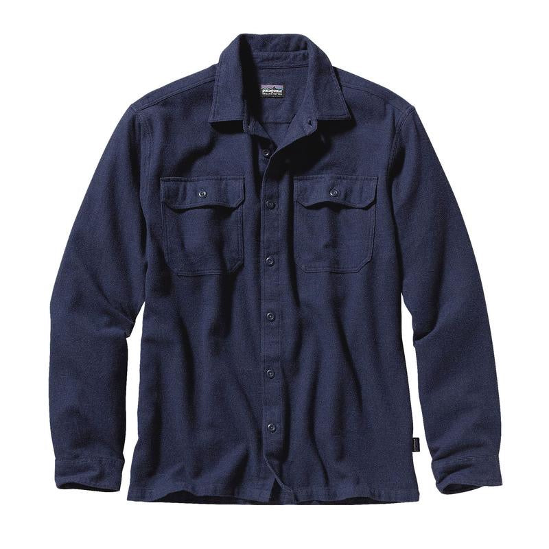 Patagonia Long Sleeve Fjord Flannel Shirt Navy - Stencil