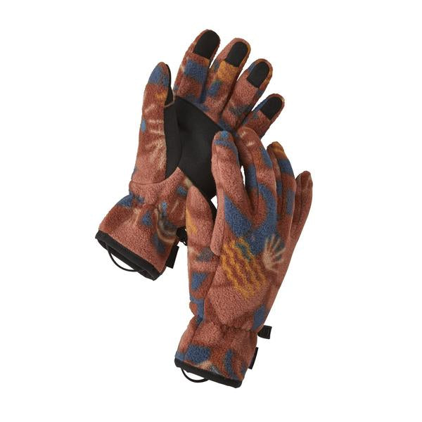 Patagonia Synch Gloves Canyon Big Block : Sisu Brown - Stencil