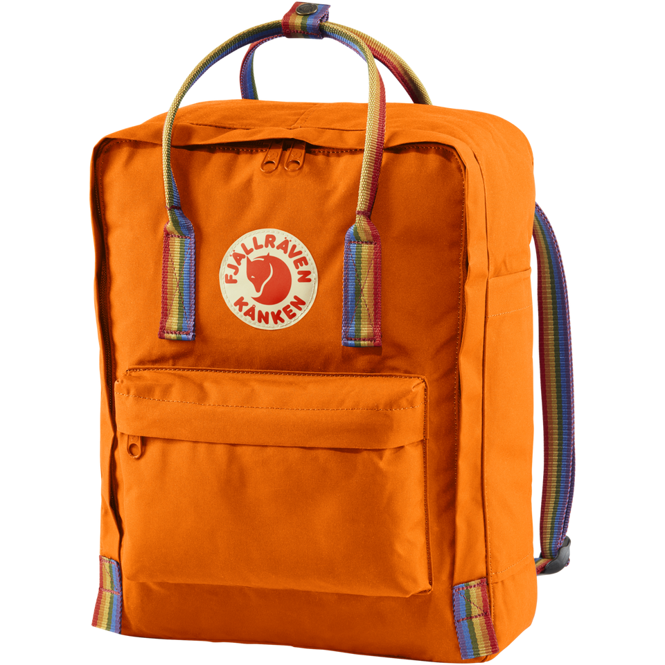 Fjallraven Kanken Backpack Burnt Orange - Rainbow Pattern