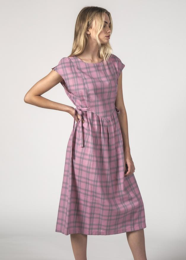 Thing Thing Margot Dress Blush Check