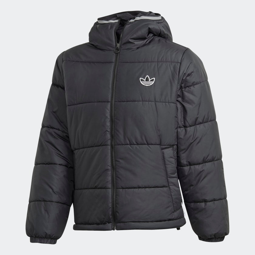 Adidas Padded Hooded Puffer Jacket Black