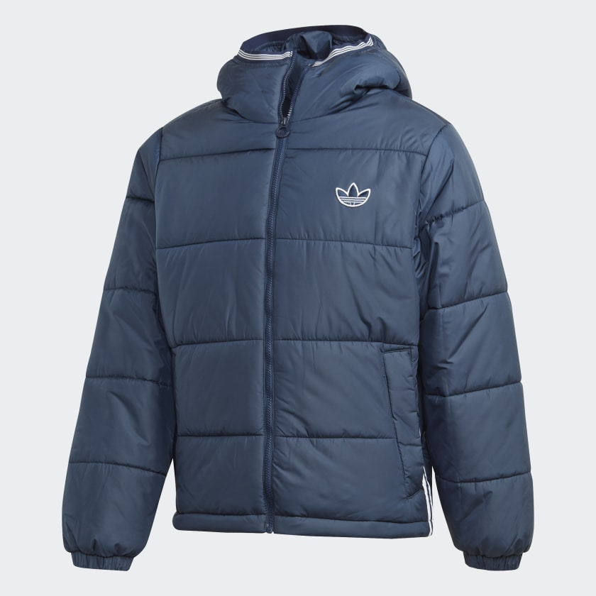 Adidas Padded Hooded Puffer Jacket Navy