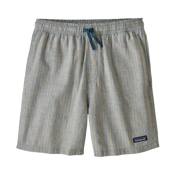 Patagonia Men's Baggies Naturals - Bale Stripe: Pigeon Blue