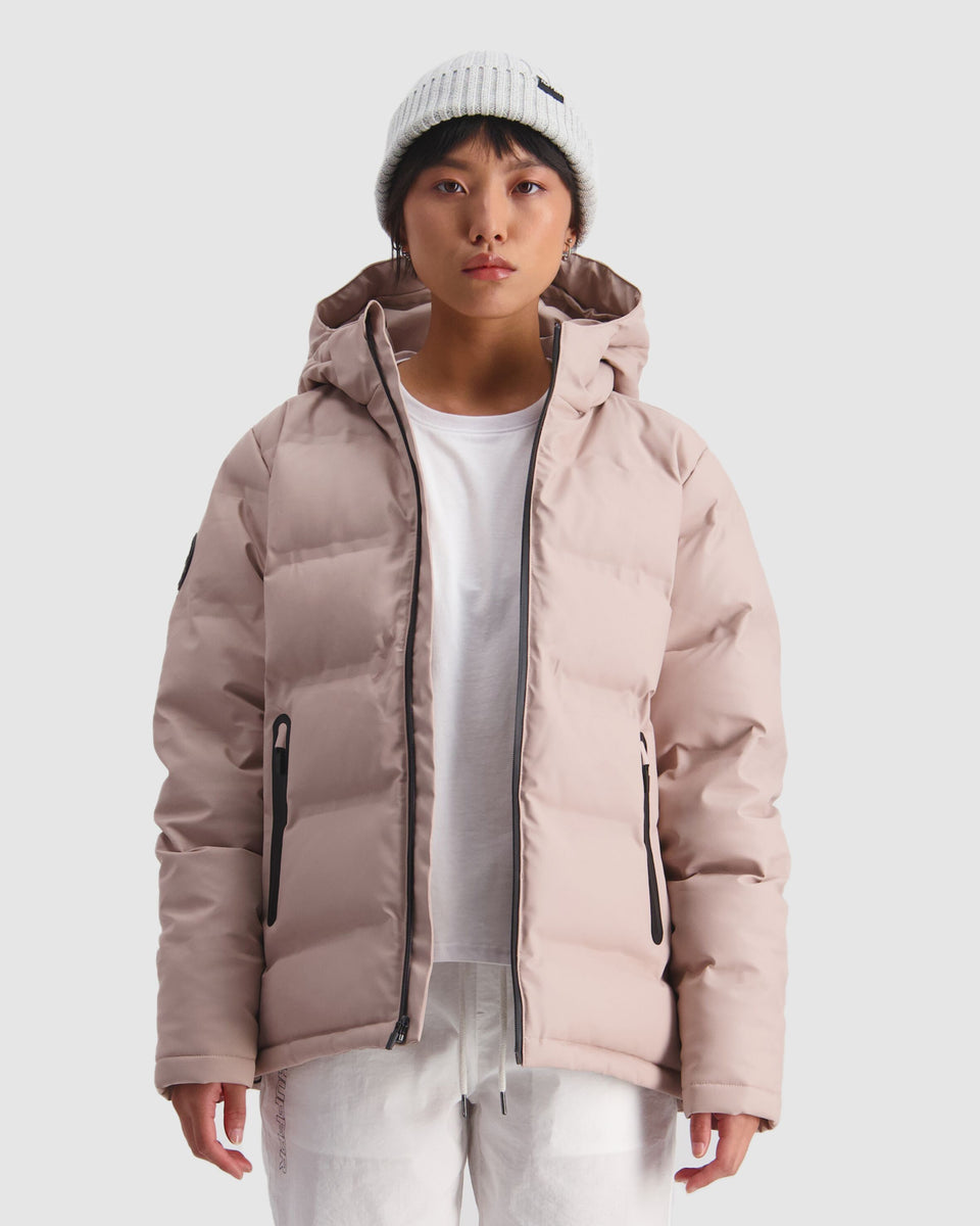Huffer Womens Superdown Jacket Dusky Pink - Stencil