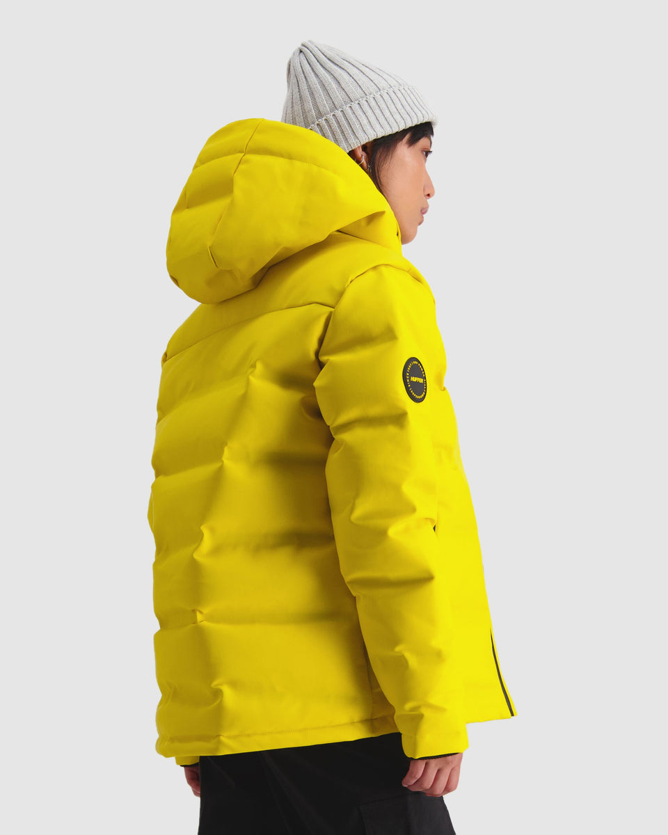 Huffer Womens Superdown Jacket Acid Yellow - Stencil