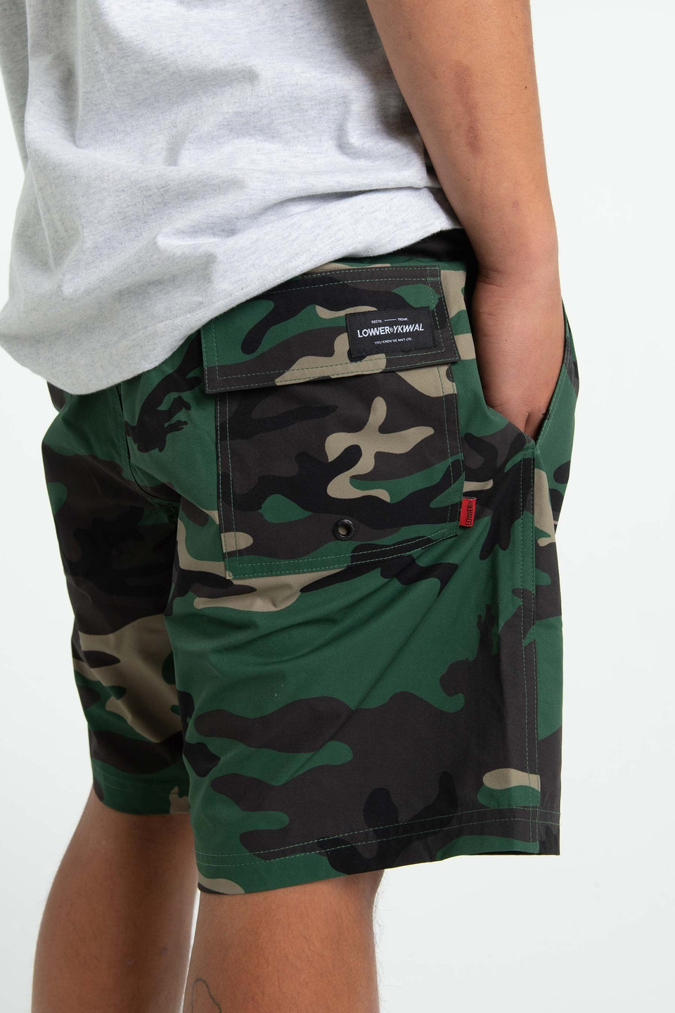 Lower Mens So Cal Shorts Camo - Stencil