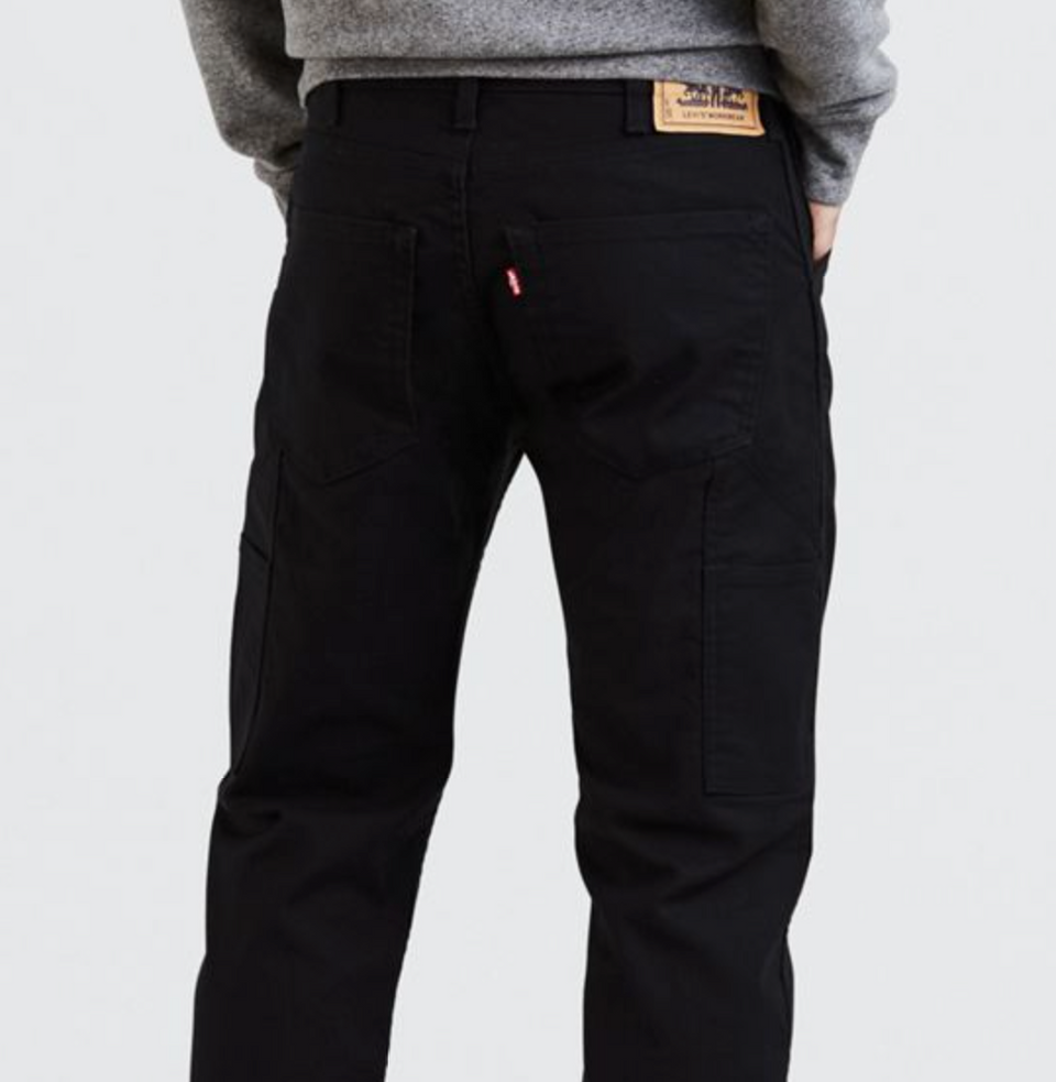 Levis Workwear 505 Utility Pant Black Canvas - Stencil