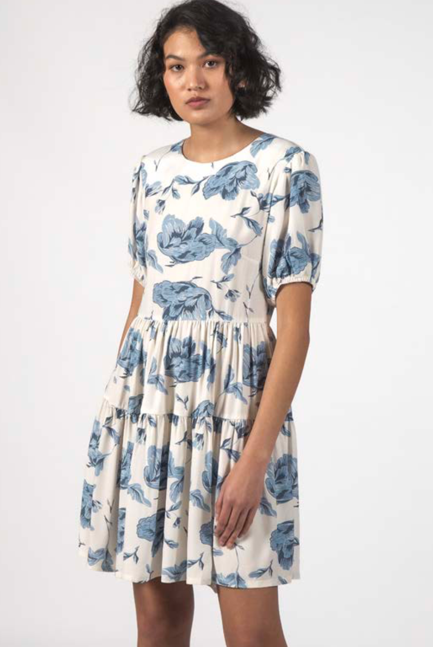 Thing Thing Poppy Dress Floral Blue