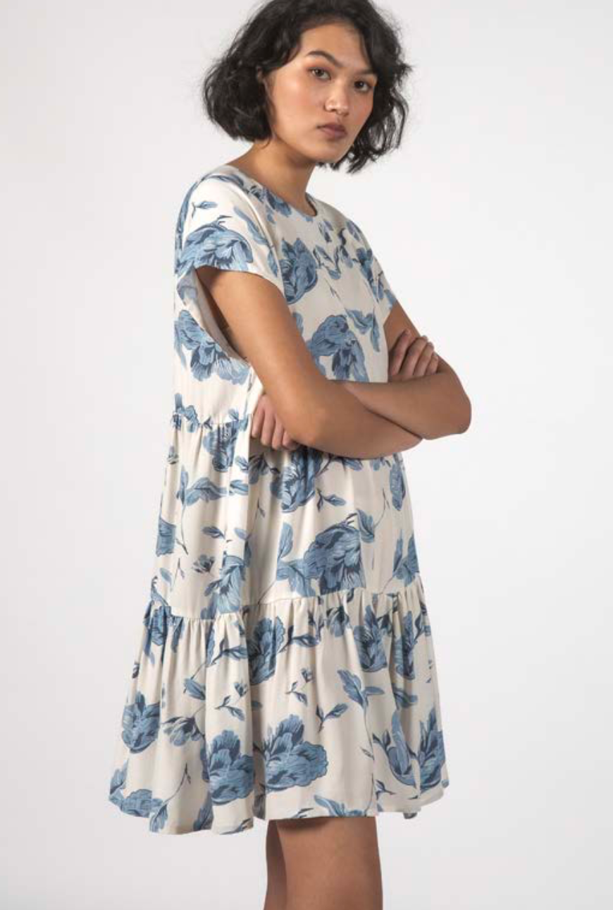 Thing Thing Twirl Dress - Floral Blue