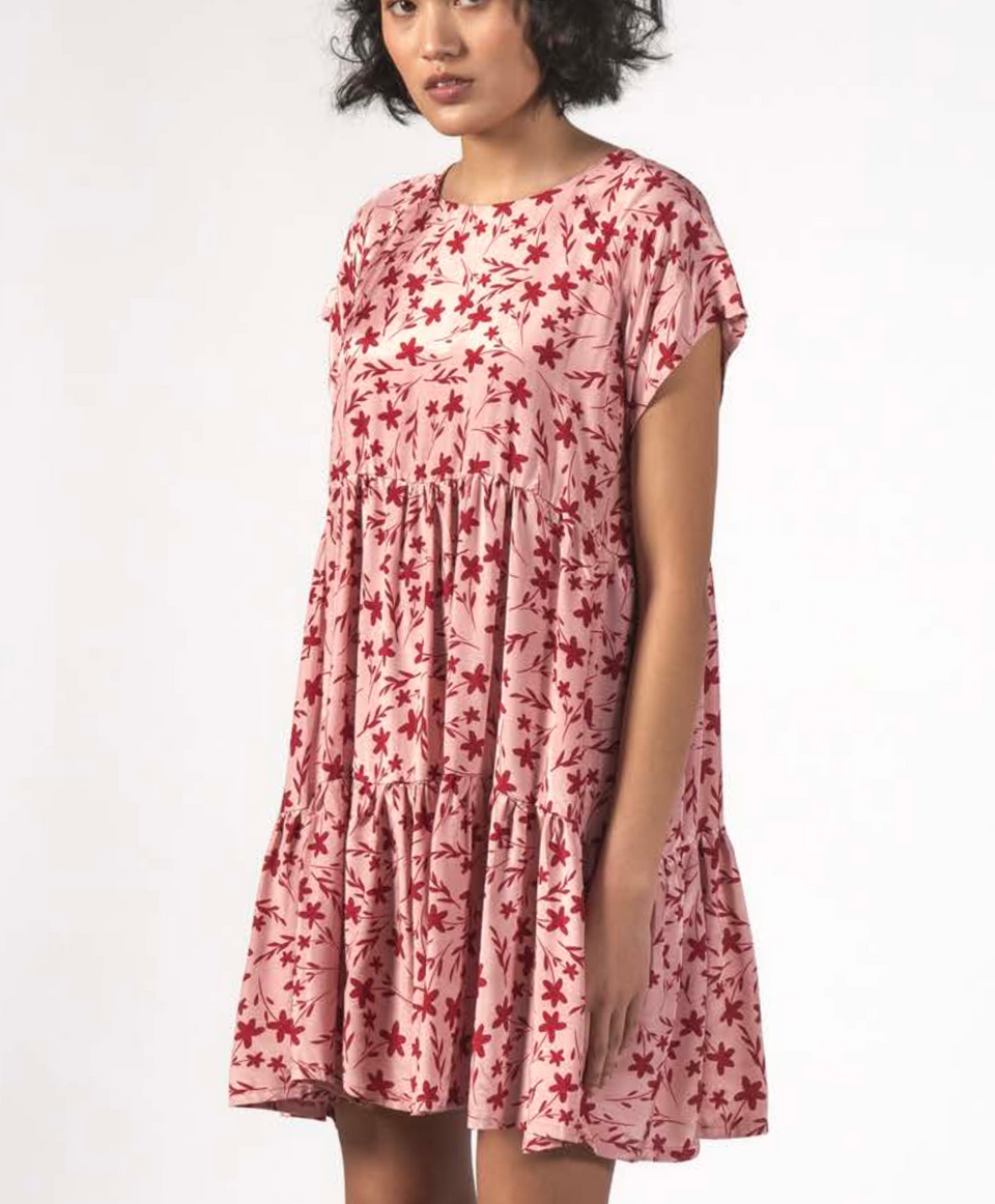 Thing Thing Twirl Dress - Floral Pink