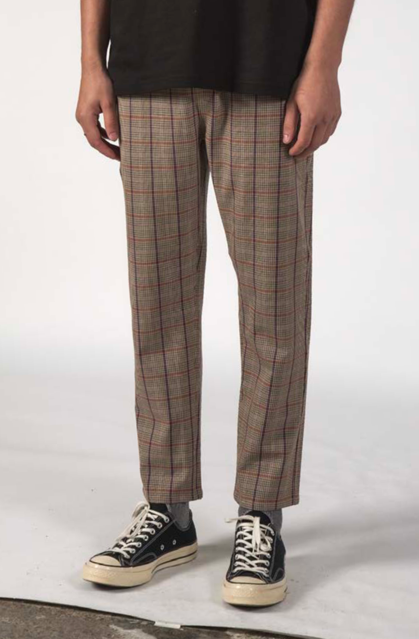 Thing Thing Alpha Pant Taupe Plaid