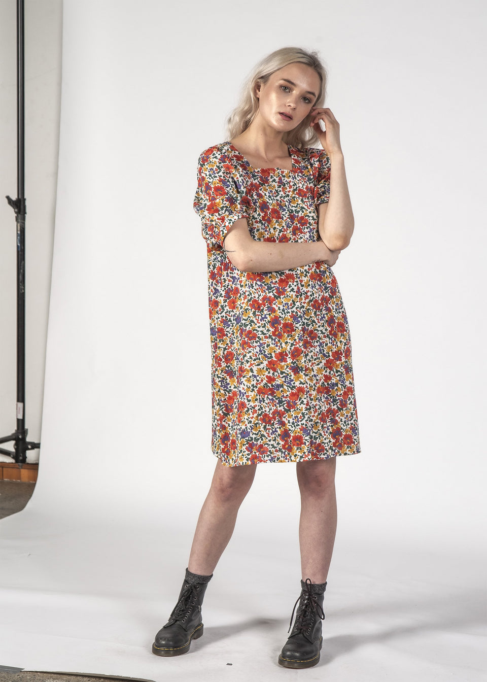 Thing Thing Small Talk Dress Inky Floral